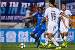 Christian Kwesi of SC Kitchee (L) in action during the week two Premier League match between Kitchee and Dreams FC at on September 10, 2017 in Hong Kong, China. Photo by Marcio Rodrigo Machado / Power Sport Images