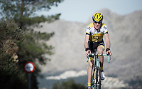 Robert Gesink (NLD/LottoNL-Jumbo) training up Coll de Rates (Alicante, Spain)<br /> <br /> January 2016 Training Camps