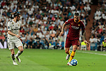 Real Madrid's Gareth Bale and AS Roma's Aleksander Kolarov during Champions League match. September 19, 2018. (ALTERPHOTOS/A. Perez Meca)