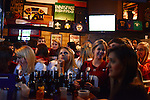University of Alabama football fans are seen during the College Football Bowl Championship Series, BCS, final at Innisfree Irish Pub in downtown Tuscaloosa, Alabama on January 7, 2013.  Alabama beat Notre Dame 42-14.