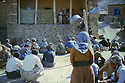 Iran 1983 .In the village of Bejveh, district of Sardasht, the Fedayin Khalk party announcing to the villagers the imminent arrival of the Iranian army.Iran 1983.Dans le village de Bejveh, region de Sardasht, rassemblement de la population par les Fedayin du Peuple  pour annoncer l'arrivee imminente de l'armee iranienne