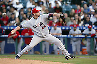 Roger Clemens of the USA during the World Baseball Championships at Angel Stadium in Anaheim,California on March 16, 2006. Photo by Larry Goren/Four Seam Images