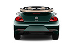 Straight rear view of 2017 Volkswagen Beetle 1.8T-Dune-Conv.-auto 2 Door Convertible Rear View  stock images