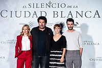 Writter Eva García Sáenz de Urturi, director Daniel Calparsoro, actress Aura Garrido and actor Javier Rey attends presentation of 'El silencio de la Ciudad Blanca' during FestVal in Vitoria, Spain. September 05, 2018. (ALTERPHOTOS/Borja B.Hojas) /NortePhoto.com NORTEPHOTOMEXICO