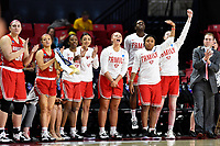 College Park, MD - March 23, 2019: Radford Highlanders sideline erupts after a three point basket during first round action of game between Radford and Maryland at Xfinity Center in College Park, MD. Maryland defeated Radford 73-51. (Photo by Phil Peters/Media Images International)