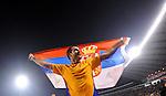 FUDBAL, BEOGRAD, 10.10.2009. -   Radost fudbalera Srbije Dejana Stankovica nakon plasmana na Svetsko prvenstvo. Fudbalska reprezentacija Srbije u pretposlednjem kolu kvalifikacija za Svetsko prvenstvo 2010. godine u Juznoj Africi pobedila je Rumuniju rezultatom 5:0. Foto: Nenad Negovanovic - Sportska centrala