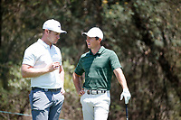 Oliver Fisher (ENG) and Rory McIlroy (NIR) during the final round of the Nedbank Golf Challenge hosted by Gary Player,  Gary Player country Club, Sun City, Rustenburg, South Africa. 11/11/2018 <br /> Picture: Golffile | Tyrone Winfield<br /> <br /> <br /> All photo usage must carry mandatory copyright credit (&copy; Golffile | Tyrone Winfield)