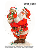GIORDANO, CHRISTMAS SANTA, SNOWMAN, WEIHNACHTSMÄNNER, SCHNEEMÄNNER, PAPÁ NOEL, MUÑECOS DE NIEVE, paintings+++++,USGI2853,#X# ,#161#