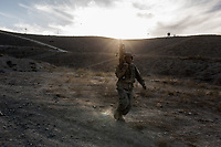 At the end of an exercise, a student of the ANA get back to his battalion at a run, Kabul, Afghanistan, 6th November 2017.<br /> <br /> A la fin d'un exercice, un étudiant de l'ANA retourne à son bataillon en courant, Kaboul, Afghanistan, le 6 novembre 2017.