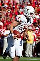 October 16, 2010: On a fake reverse play Texas Longhorns quarterback Garrett Gilbert #7 turns up field for a touchdown against the Nebraska Cornhuskers at Memorial Stadium in Lincoln, Nebraska. Texas defeated Nebraska 20 to 13.