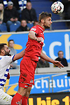 10.04.2019, Schauinsland-Reisen-Arena, Duisburg, GER, 2. FBL, MSV Duisburg vs. 1. FC Koeln,<br />  <br /> DFL regulations prohibit any use of photographs as image sequences and/or quasi-video<br /> <br /> im Bild / picture shows: <br /> Kopfball durch  Florian Kainz (FC Koeln #30), <br /> <br /> Foto © nordphoto / Meuter