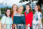 Monica O'Sullivan, Edel O'sullivan, Bernie O'sullivan, Suzanne Fleming and Sandra McMahon at the Kerry Hospice fashion show in the INEC on Wednesday night