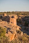 Utah, Hovenweep National Monument, Square Tower group, Ancient Pueblo or Anasazi people, archeology, sunrise, U.S.A., Southwest America,.