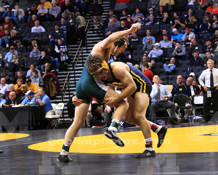 The University of Michigan wrestling team competes in the 2012 Big Ten Wrestling Championships at Mackey Arena in West Lafayette, Ind., on March 4, 2012.