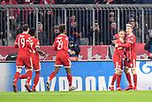 December 5th 2017, Allianze Arena, Munich, Germany. UEFA Champions league football, Bayern Munich versus Paris St Germain; Robert Lewandowski (bay) celebrates his goal with Franck RIBERY (bay)