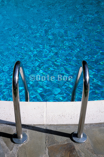 Ladder into a swimming pool