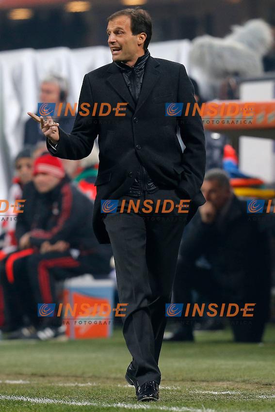 """Massimiliano Allegri Milan, Milano 15/2/2013 .Stadio """"S.Siro"""".Football Calcio 2012/2013 Serie A.Milan Vs Parma.Foto Marco Bertorello Insidefoto"""