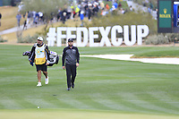 Tyrrell Hatton (ENG) on the 17th fairway during the final round of the Waste Management Phoenix Open, TPC Scottsdale, Scottsdale, Arisona, USA. 03/02/2019.<br /> Picture Fran Caffrey / Golffile.ie<br /> <br /> All photo usage must carry mandatory copyright credit (&copy; Golffile | Fran Caffrey)