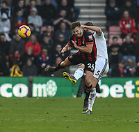 Wolverhampton Wanderers' Ryan Bennett (right) battles with Bournemouth's Ryan Fraser (left) <br /> <br /> Photographer David Horton/CameraSport<br /> <br /> The Premier League - Bournemouth v Wolverhampton Wanderers - Saturday 23 February 2019 - Vitality Stadium - Bournemouth<br /> <br /> World Copyright © 2019 CameraSport. All rights reserved. 43 Linden Ave. Countesthorpe. Leicester. England. LE8 5PG - Tel: +44 (0) 116 277 4147 - admin@camerasport.com - www.camerasport.com