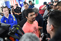 LOS ANGELES, CA - JANUARY 9: Manny Pacquiao at the Manny Pacquiao and Adrien Broner Los Angeles Media Day at the Wild Card Boxing Club in Los Angeles, California on January 9, 2019. <br /> CAP/MPI/DAM<br /> &copy;DAM/MPI/Capital Pictures