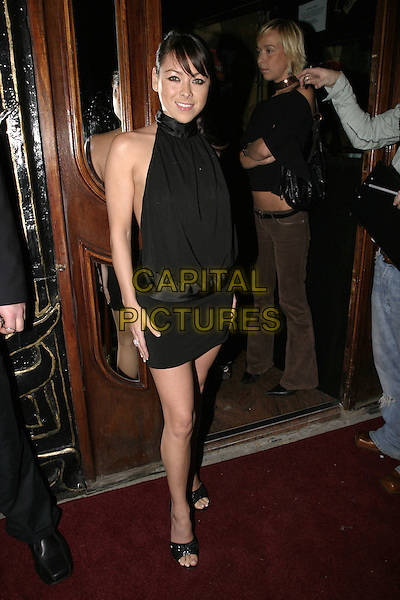 LISA SCOTT LEE.Dunes VIP club relaunch party, Kensington Church Street,.London, November 25th 2004..full length little black dress halterneck.Ref: AH.www.capitalpictures.com.sales@capitalpictures.com.©Capital Pictures.