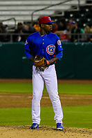 Tennessee Smokies pitcher David Garner (1) during a Southern League game against the Biloxi Shuckers on May 25, 2017 at Smokies Stadium in Kodak, Tennessee.  Tennessee defeated Biloxi 10-4. (Brad Krause/Krause Sports Photography)