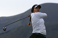 Gurleen Kaur (USA) on the 2nd tee during Round 2 of the Women's Amateur Championship at Royal County Down Golf Club in Newcastle Co. Down on Wednesday 12th June 2019.<br /> Picture:  Thos Caffrey / www.golffile.ie