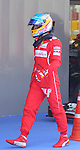 10.05.2014 Barcelona, Spain. F1 Spanish Grand Prix. Picture show Fernando Alonso (ESP Scuderia Ferrari after finish qualifying at Circuit de Barcelona-Catalunya