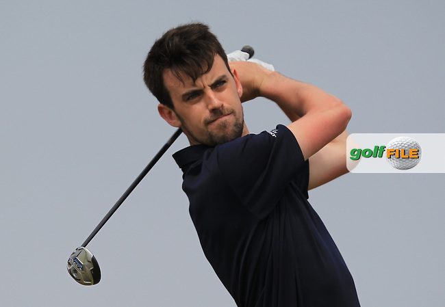 Stephen Brady (Galway) on the 2nd tee during Round 1 of the East of Ireland Amateur Open Championship sponsored by City North Hotel at Co. Louth Golf club in Baltray on Saturday 4th June 2016.<br /> Photo by: Golffile | Thos Caffrey