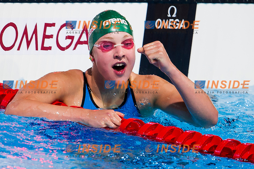 Ruta Meilutyte LTU<br /> Women's 100m breaststroke semifinal<br /> Swimming<br /> 15th FINA World Aquatics Championships<br /> Barcelona 19 July - 4 August 2013<br /> Palau Sant Jordi, Barcelona (Spain) 29/07/2013 <br /> &copy; Giorgio Perottino / Deepbluemedia.eu / Insidefoto