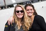 AMSTELVEEN - Hockey - Hoofdklasse competitie dames. AMSTERDAM-DEN BOSCH (3-1) Den Bosch manager Elmke Hendrix met rechts Lidewij Welten (Den Bosch)  COPYRIGHT KOEN SUYK