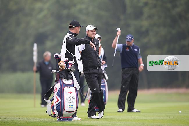 Danny Willett (ENG) and caddie Jonathan Smart during the Final Round of the BMW International Open 2014 from Golf Club Gut Lärchenhof, Pulheim, Köln, Germany. Picture:  David Lloyd / www.golffile.ie