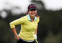 "Mel ""She Loves Golf"" Evans during the Anita Boon Pro-Am, North Shore Golf Course, Auckland, New Zealand Thursday 21 September 2017. Photo: Simon Watts/www.bwmedia.co.nz"