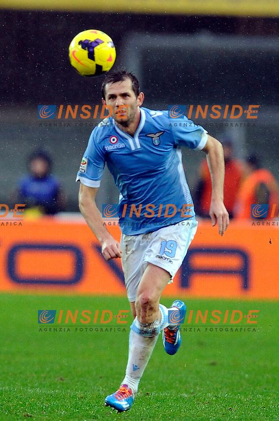 Senad Lulic Lazio <br /> Verona 02-02-2014 Stadio Bentegodi. Football Calcio Serie A 2013/2014 Chievo Verona - Lazio foto Insidefoto