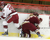 Kate Buesser (Harvard - 20), Tracy Johnson (BC - 5) - The Harvard University Crimson defeated the Boston College Eagles 5-0 in their Beanpot semi-final game on Tuesday, February 2, 2010 at the Bright Hockey Center in Cambridge, Massachusetts.