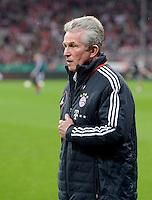 FUSSBALL  DFB-POKAL  HALBFINALE  SAISON 2012/2013    FC Bayern Muenchen - VfL Wolfsburg            16.04.2013 Trainer Jupp Heynckes (FC Bayern Muenchen)