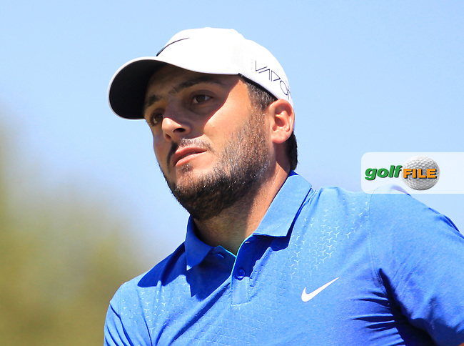 Francesco Molinari (ITA) on the 1st tee during Round 4 of the Open de Espana  in Club de Golf el Prat, Barcelona on Sunday 17th May 2015.<br /> Picture:  Thos Caffrey / www.golffile.ie
