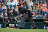 Umpire Dexter Kelley during a Florida State League game between the Jupiter Hammerheads and Bradenton Marauders on April 20, 2019 at LECOM Park in Bradenton, Florida.  Bradenton defeated Jupiter 3-2.  (Mike Janes/Four Seam Images)