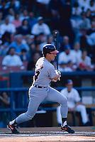 Travis Fryman of the Detroit Tigers at Anaheim Stadium in Anaheim,California during the 1996 season. (Larry Goren/Four Seam Images)
