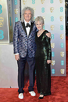 LONDON, UK - FEBRUARY 10: Brian May and Anita Dobson at the 72nd British Academy Film Awards held at Albert Hall on February 10, 2019 in London, United Kingdom. Photo: imageSPACE/MediaPunch<br /> CAP/MPI/IS<br /> ©IS/MPI/Capital Pictures