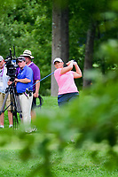 Angela Stanford (USA) watches her tee shot on 8 during Thursday's first round of the 72nd U.S. Women's Open Championship, at Trump National Golf Club, Bedminster, New Jersey. 7/13/2017.<br /> Picture: Golffile | Ken Murray<br /> <br /> <br /> All photo usage must carry mandatory copyright credit (&copy; Golffile | Ken Murray)