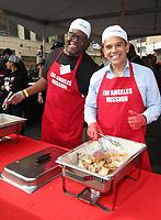 21 December 2018 - Los Angeles, California - Jonathan Adams, Antonio Villaraigosa. Los Angeles Mission Christmas Meal for the Homeless held at Los Angeles Mission. Photo Credit: F. Sadou/AdMedia