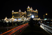 The exterior view of the Luxury hotel and casino, Galaxy Hotel in Macau, China.
