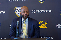 Berkeley, Ca. -- March 29, 2017: Cal Men's Basketball announces new head coach Wyking Jones in the Haas Club Room in Berkeley California.