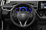Car pictures of steering wheel view of a 2020 Toyota Corolla XLE 4 Door Sedan