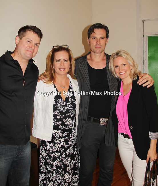 "Martha Bryne, Austin Peck, Terri Conn support Trent Dawson at ""The F"" Benefit for the film was held on June 22, 2018 at the Freeman Studio, New York City, New York. (Photo by Sue Coflin/Max Photo)"
