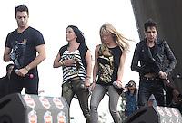 Ari Borovoy, Lidia Avila, Erika Zaba, Oscar Schwebel durante su presentacion en el concierto Exa 2013 en Leon Guanajuato.<br /> (*Foto:TiradorTercero/NortePhoto*) ...<br /> ,OV7