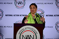 Washington, DC - January 16, 2017: Actress, choreographer and producer Debbie Allen speaks to attendees of the annual Martin Luther King Holiday Breakfast, hosted by the National Action Network, at the Mayflower Hotel in the District of Columbia, January 16, 2017. Allen received an award for Excellence in the Arts from Rev. Al Sharpton.  (Photo by Don Baxter/Media Images International)
