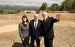 09-05-2014:  Minister for Education and Skills Ruairi Quinn T.D. performed the formal sod turning ceremony to mark the beginning of the construction phase for a new school for  Presentation Secondary School, Milltown, Co. Kerry on Friday. He is pictured here overlooking the site with Cormac Bonner, Principal,  Presentation Secondary School, Milltown and Kerry Harkin, Deputy Principal  Picture: Eamonn Keogh (MacMonagle, Killarney)