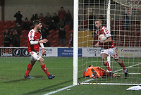 Fleetwood Town's Paddy Madden  celebrates scoring his sides first goal <br /> <br /> Photographer Mick Walker/CameraSport<br /> <br /> Emirates FA Cup Third Round - Fleetwood Town v AFC Wimbledon - Saturday 5th January 2019 - Highbury Stadium - Fleetwood<br />  <br /> World Copyright © 2019 CameraSport. All rights reserved. 43 Linden Ave. Countesthorpe. Leicester. England. LE8 5PG - Tel: +44 (0) 116 277 4147 - admin@camerasport.com - www.camerasport.com